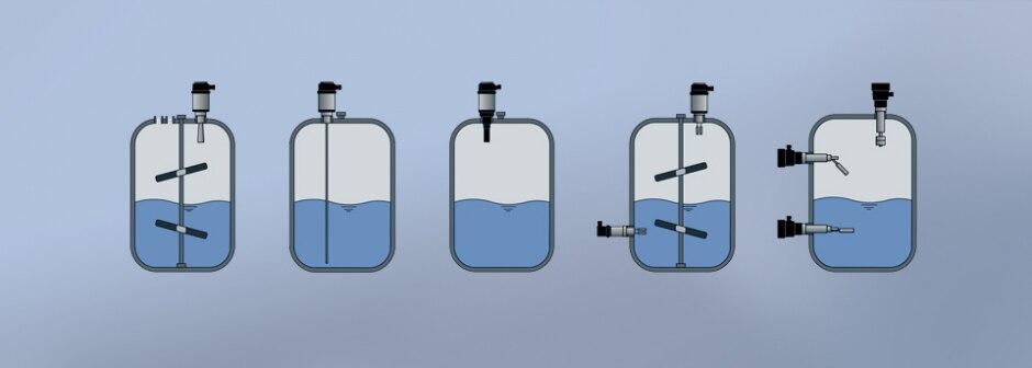 Different principles of level measurement scheme