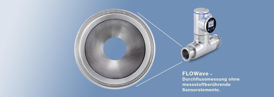 Rohrquerschnitt des berührungslosen Durchflussmessers ohne Sensorelemente