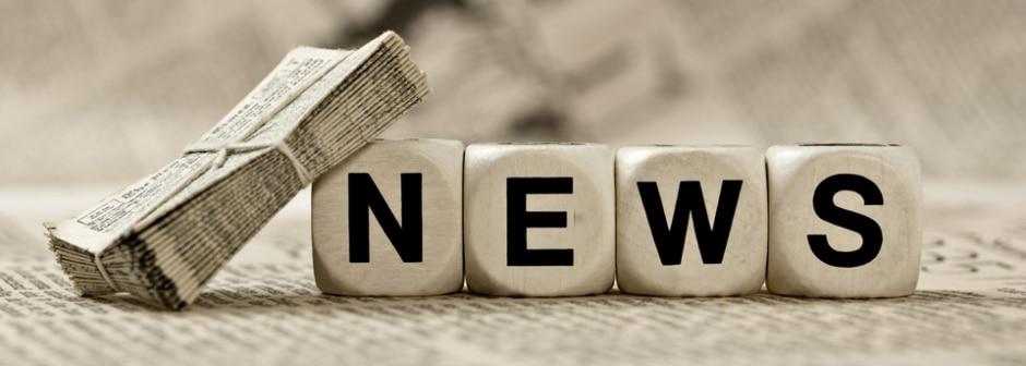 Buchstabenwürfel zeigen das Wort News